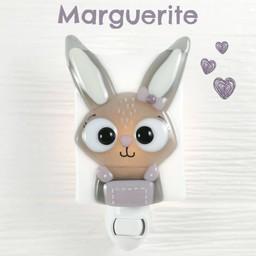 Veille Sur Toi Veille sur Toi - Veilleuse en Verre Marguerite la Lapine