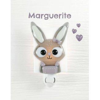 Veille Sur Toi Veille sur Toi - Glass Nightlight, Marguerite the Bunny
