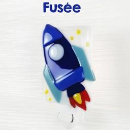 Veille Sur Toi Veille sur Toi - Glass Nightlight, Rocket