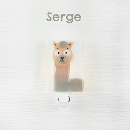 Veille Sur Toi Veille sur Toi - Glass Nightlight, Serge the Alpaca