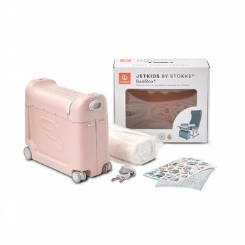 Stokke Stokke - JetKids BedBox Travel Bed and Suitcase, Pink Lemonade