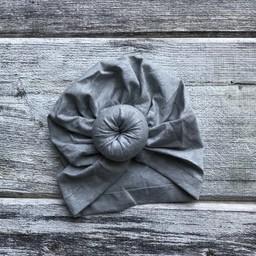 Mini Bretzel Mini Bretzel - Baby Turban, Grey