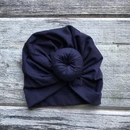 Mini Bretzel Mini Bretzel - Baby Turban, Navy Blue