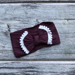 Mini Bretzel Mini Bretzel - Margaret Headband, Burgundy