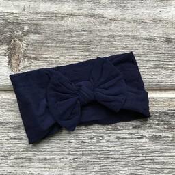 Mini Bretzel Mini Bretzel - Peony Headband, Navy Blue