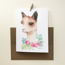 Katrinn Pelletier Illustration Katrinn Pelletier - Greeting Card, Baby Alpaga