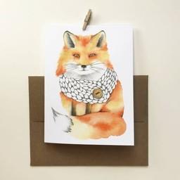 Katrinn Pelletier Illustration Katrinn Pelletier - Greeting Card, Red Fox