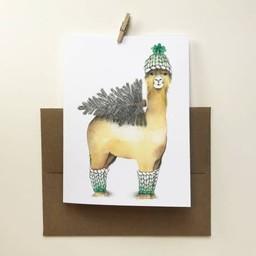 Katrinn Pelletier Illustration Katrinn Pelletier - Greeting Card, Holiday Alpaga
