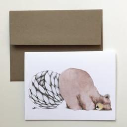 Katrinn Pelletier Illustration Katrinn Pelletier - Greeting Card, Sitted Brown Bear