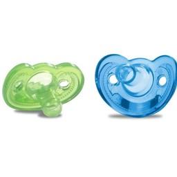 The First Years Paquet de 2 Suces pour Nouveau-Né GumDrop de The First Years/The First Years 2 Pack GumDrop Newborn Pacifier, 0-3 mois/months, Bleu et Vert/Blue and Green