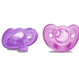 The First Years Paquet de 2 Suces pour Nouveau-Né GumDrop de The First Years/The First Years 2 Pack GumDrop Newborn Pacifier, 0-3 mois/months, Rose et Mauve/Pink and Purple