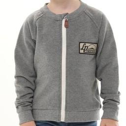 L&P L&P - Crewnack Jacket with Zipper, Robson, Grey
