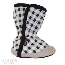 Sherpa Sherpa - Pantoufles pour Bébé Dakota/Dakota Baby Slippers, Noir et Blanc/Black and White