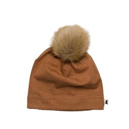 Little & Lively Little & Lively - Pompom Beanie, Fox Brown