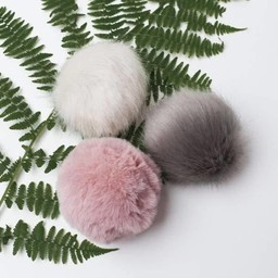 Little & Lively Little & Lively - Pompons Pack, Pink, Grey and Cream
