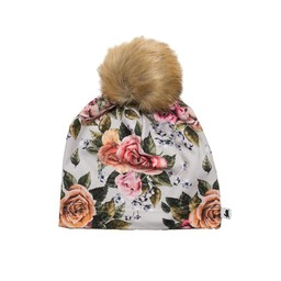 Little & Lively Little & Lively - Pompom Beanie, Antique Floral