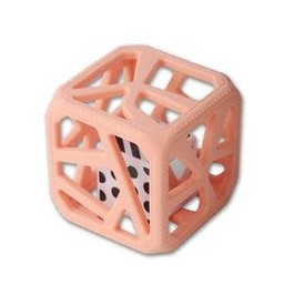 Chew Cube - Cube de Dentition/Theething Cube, Rose Pêche/Peachy Pink