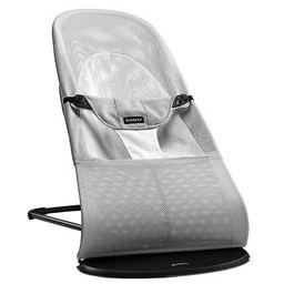 BabyBjörn BabyBjörn - Transat Balance Soft en Filet/Mesh Bouncer Balance Soft, Argent et Blanc/Silver and White