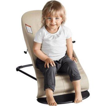 BabyBjörn BabyBjörn - Transat Balance Soft en Filet/Mesh Bouncer Balance Soft, Argent et Blanc/Silver and White