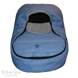 Sherpa Sherpa - Wigwam Baby Car Shell, Denim Grey