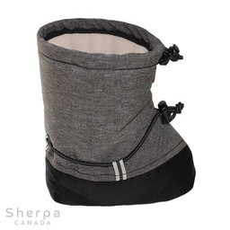 Sherpa Sherpa - Mouflons Bébé Chic-Chocs/Chic-Chocs Baby Booties, Tweed Gris/Grey Tweed
