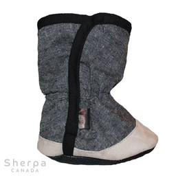 Sherpa Sherpa - Pantoufles pour Bébé Dakota/Dakota Baby Slippers, Noir Chambray/Black Chambray