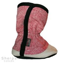 Sherpa Sherpa - Pantoufles pour Bébé Dakota/Dakota Baby Slippers, Rouge Chambray/Red Chambray