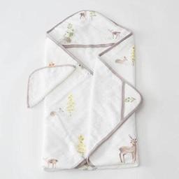 Little Unicorn Little Unicorn - Sortie de Bain et Gant de Toilette, Petit Cerf