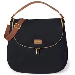 Skip Hop Skip Hop - Curve Diaper Bag, Black and Tan