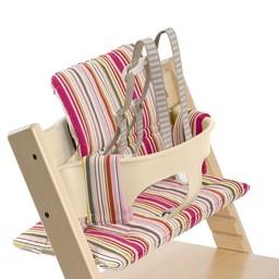 Stokke Stokke - Coussin en Coton pour Chaise Haute Tripp Trapp, Rayures Bonbons/Candy Stripe Taille Unique/One Size