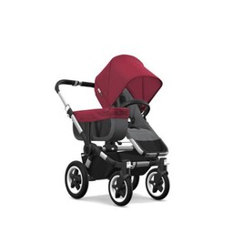 Bugaboo Bugaboo Donkey2 - Poussette Simple/Mono Stroller Aluminium - Gris et Rouge/Grey and Red