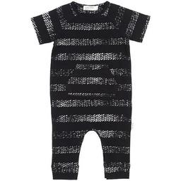 Miles Baby - Combinaison en Tricot Manches Courtes, Noir