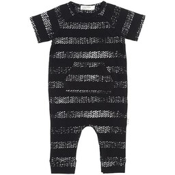 Miles Baby - Short Sleeve Knitted Baby Playsuit, Black