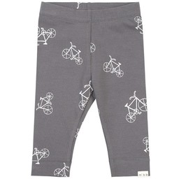 Miles Baby - Knitted Legging, Bikes, Medium Grey