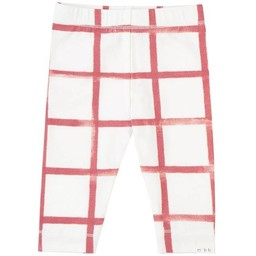 Miles Baby - Knitted Legging, Plaid, Off White