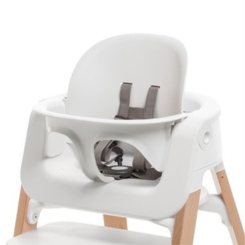 Stokke Steps Ensemble Bebe Pour Chaise Haute High Chair Baby Set Blanc