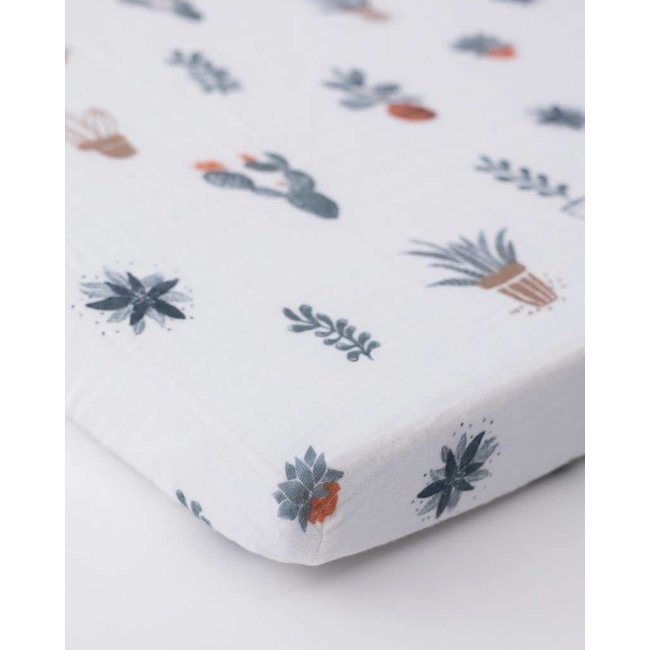 Little Unicorn Little Unicorn - Mini Cotton Muslin Crib Sheet, Prickle Pots