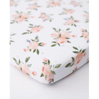 Little Unicorn Little Unicorn - Mini Cotton Muslin Crib Sheet, Watercolor Rose