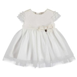 Mayoral Mayoral - Lurex Jacquard Dress, Off-White