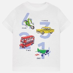 Mayoral Mayoral - 4 3 2 1 T-Shirt, White