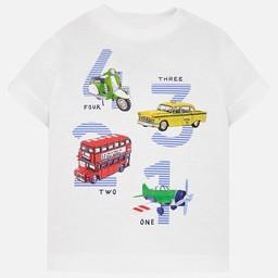 Mayoral Mayoral - T-Shirt 4 3 2 1, Blanc