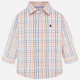 Mayoral Mayoral - Plaid Button Down, Blue