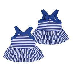 Mayoral Mayoral - Striped Dress, Dark Blue