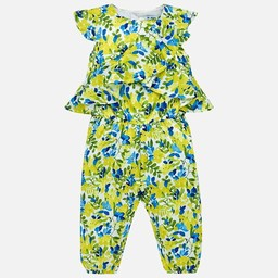 Mayoral Mayoral - Long Printed Overalls, Lemon
