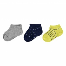 Mayoral Mayoral - 3 Pairs of Socks, Lemon Boy