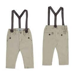Mayoral Mayoral - Chino Pants with Suspenders, Roseau