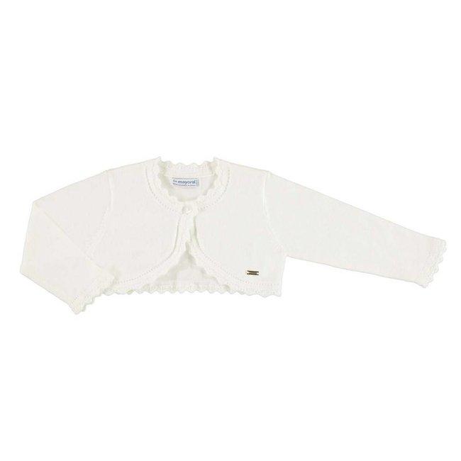 Mayoral Mayoral - Basic Knit Cardigan, Off-White