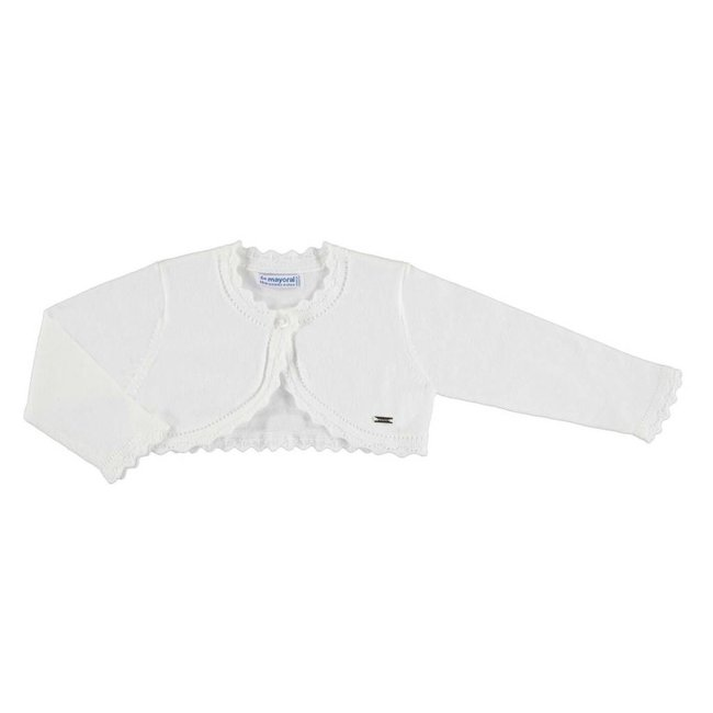 Mayoral Mayoral - Basic Knit Cardigan, White