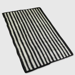 Little Unicorn Little Unicorn - Outdoor Blanket, Black and White Stripe
