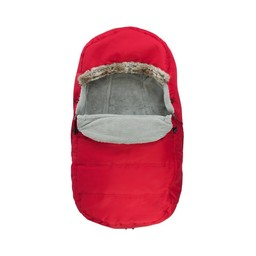Petit Coulou Petit Coulou - Protective Cover for Stroller and Sleigh 2 in 1, Red - Copper Fur Trim